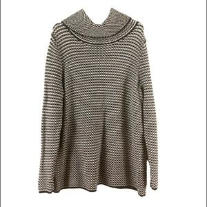 Talbots Women's Black and White Knit Sweater Top